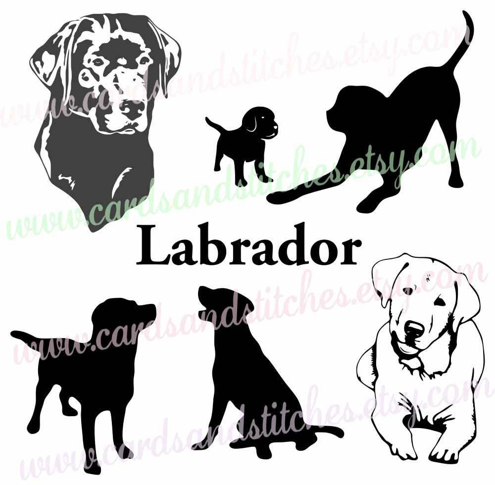 Download Labrador SVG Labrador Silhouettes Dog SVG Digital
