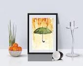 Ladybug Umbrella Art Prin...
