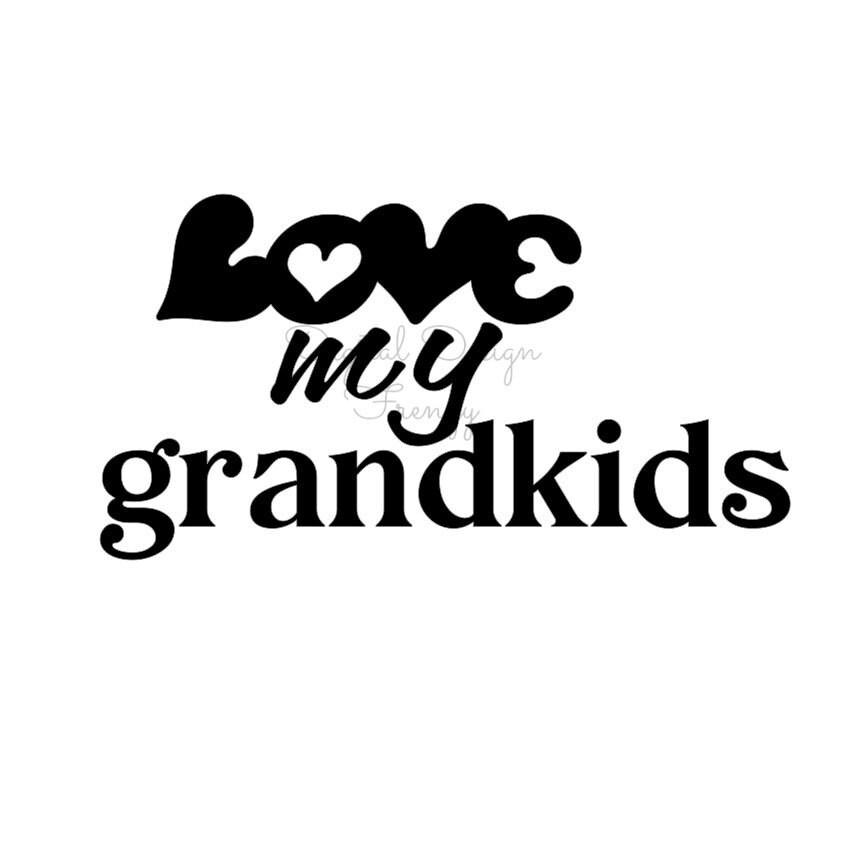 Download Love my grandkids SVG File Instant Download SVG Digital File