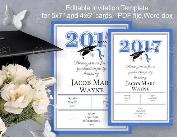 2017 Graduation Invitations
