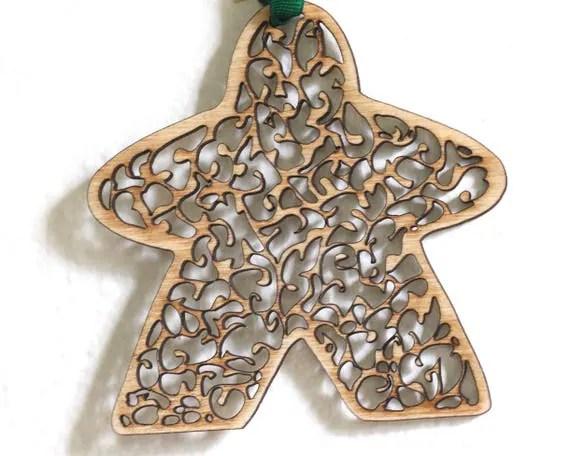 Leafy Filigree Meeple Ornament