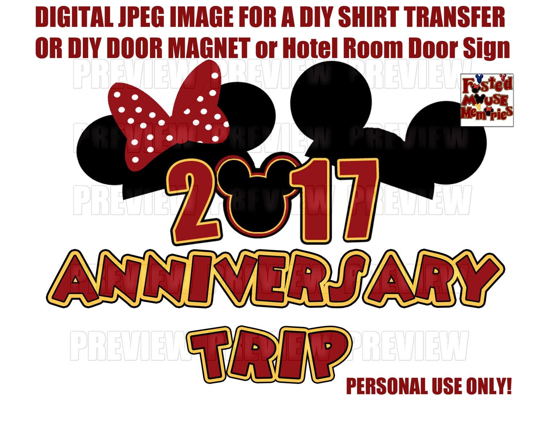 Wedding Anniversary Cruise Magnet