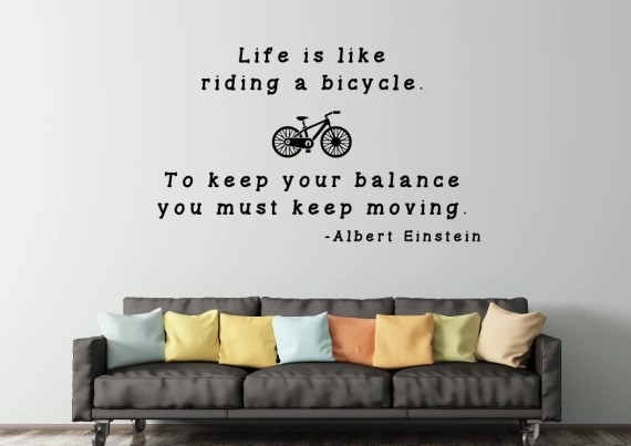 Life is Like a Bicycle Wall Decal by EpiphanyDecals