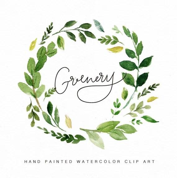 Garland Water Colorgreenery Clip Art