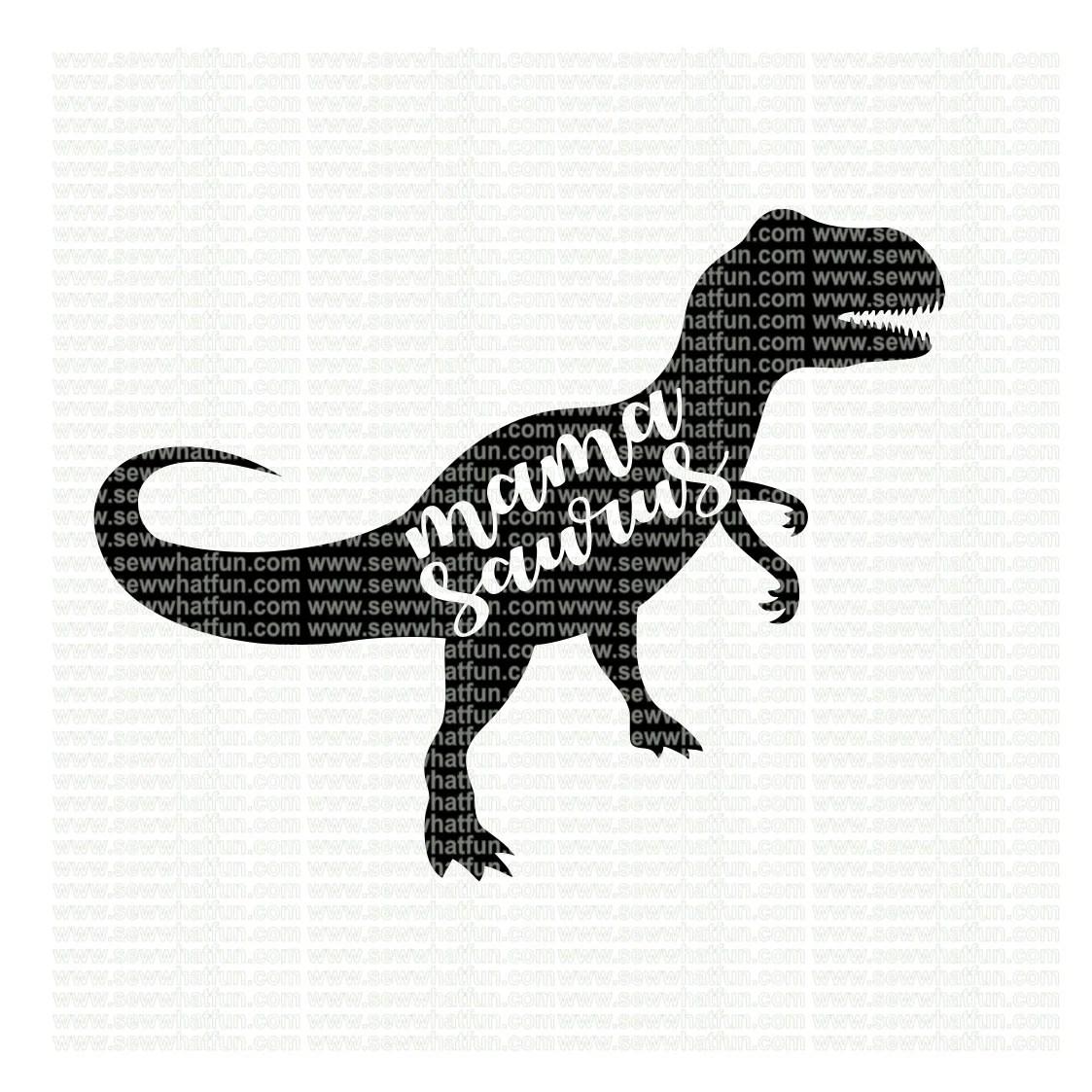 Mama Saurus Svg Cutting File Vinyl File Svg Dinosaur Svg