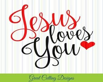 Download Jesus loves svg | Etsy