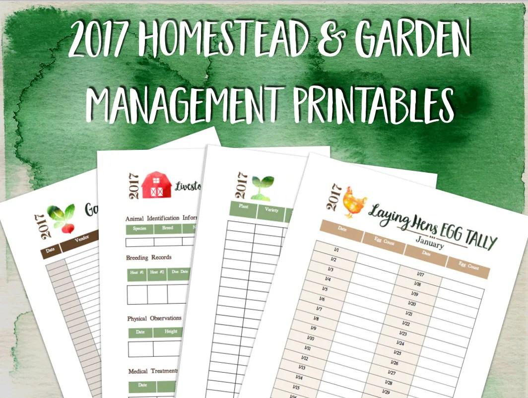 Printable Homestead And Garden Management Planner