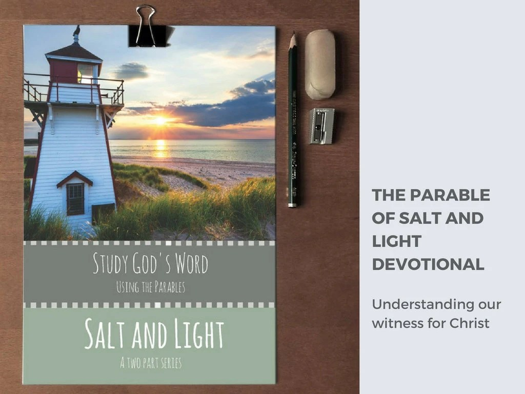 Parables Of Jesus Salt And Light Bible Study Printable