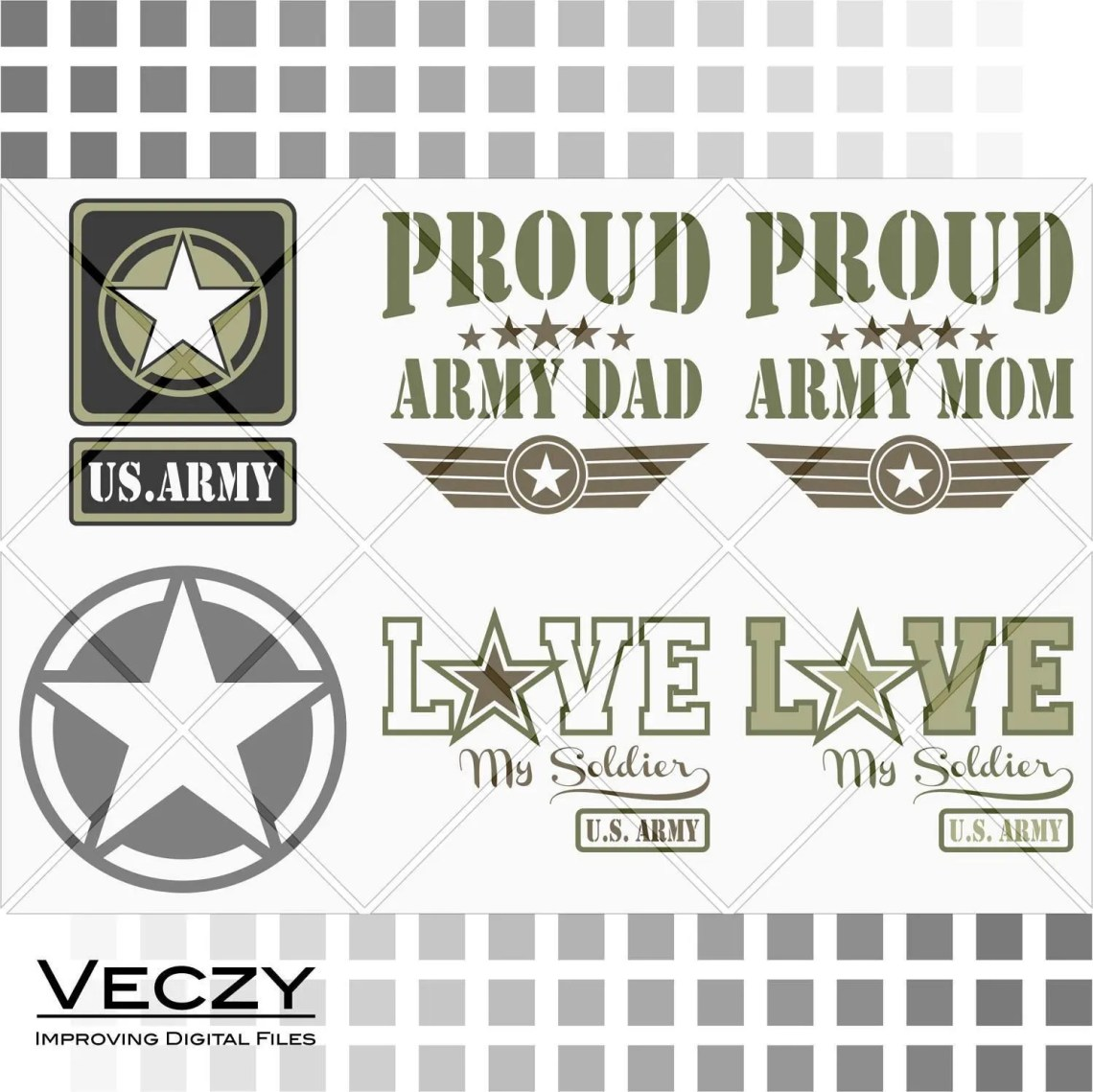 Download Army SVG Proud army dad proud army mom love my soldier