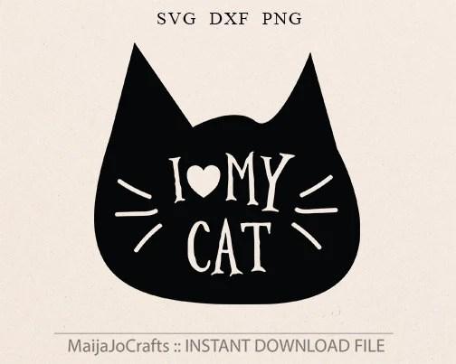 Download Cat SVG Cat lover svg Cat Lady svg Cut File Silhouette SVG