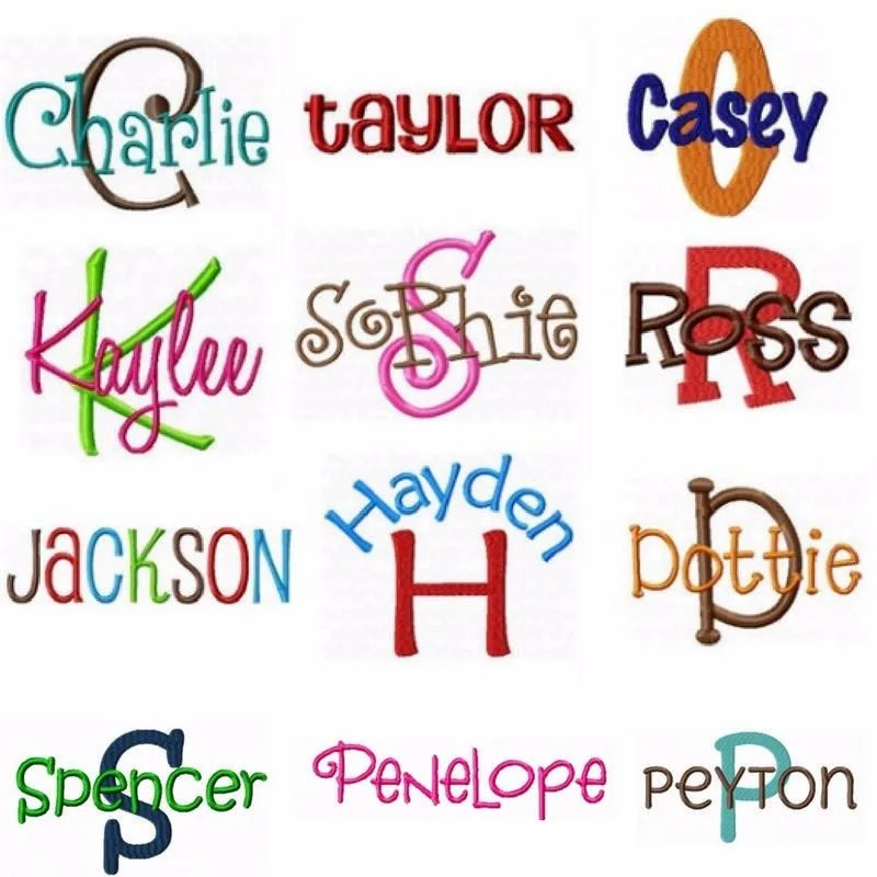 Download All 15 Embroidery Fonts Pack Alphabet Designs