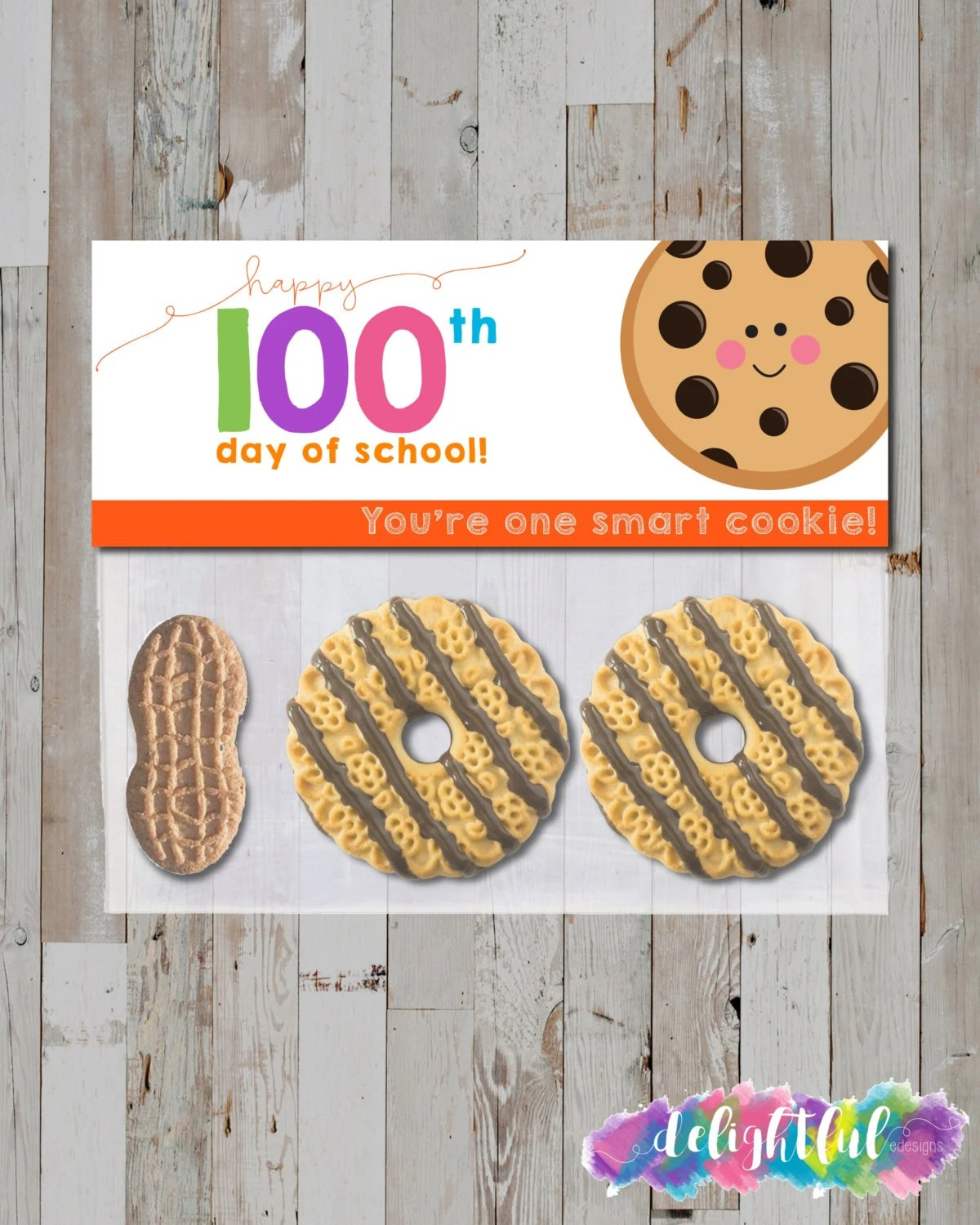 Instant Download Cute Kawaii 100 Days Of School Smart Cookie