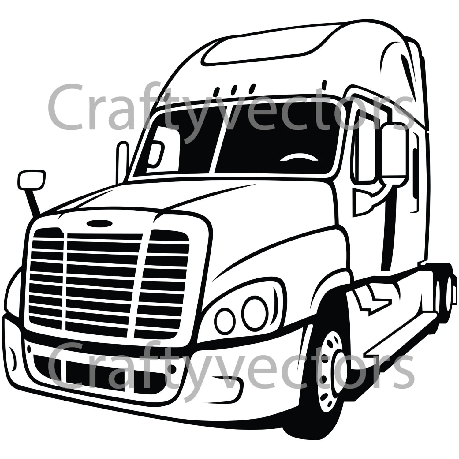 Freightliner Cascadia Rig Vector File