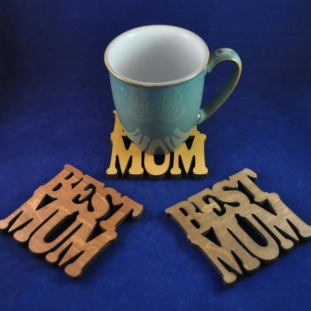 Wooden Best Mum Coaster: ...