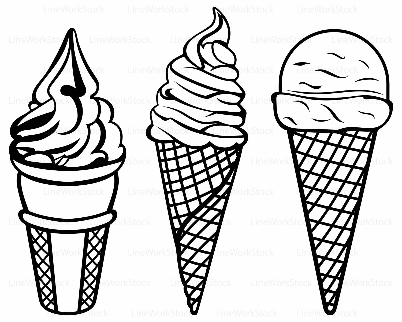 Ice Cream Svg Ice Cream Clipart Soft Serve Svg Ice Cream