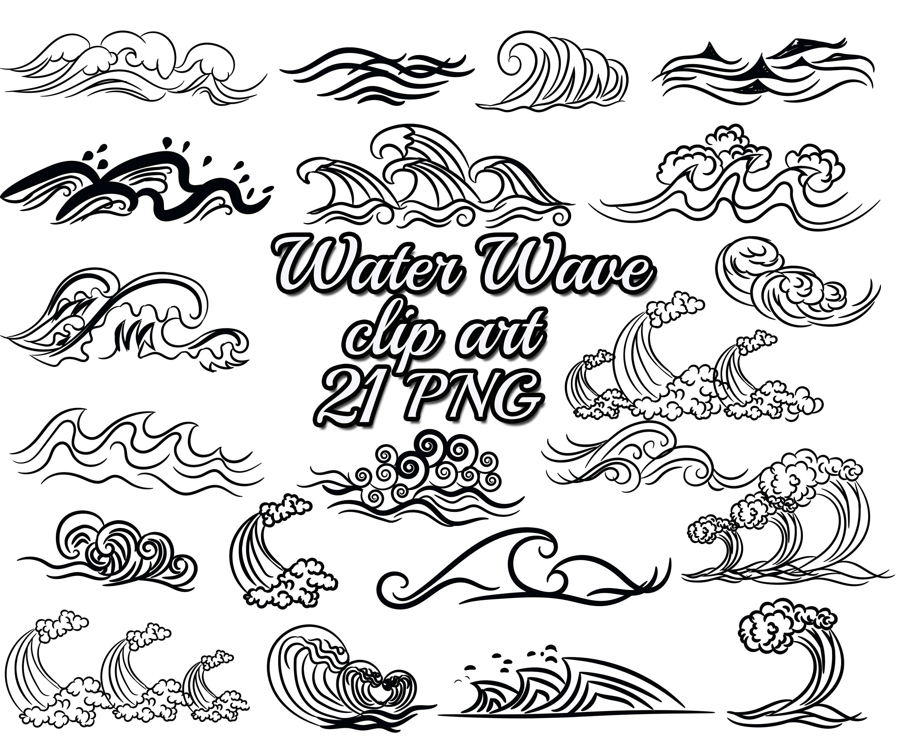 Wave Clip Art Water Wave Clipart Nautical Clipart Wave