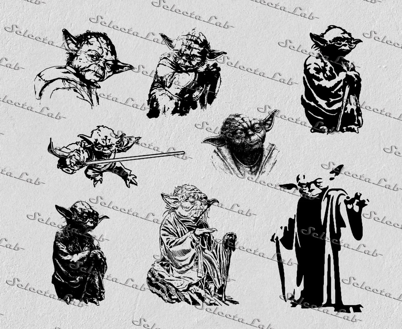 Digital Svg Yoda Master Yoda Star Wars Inspired