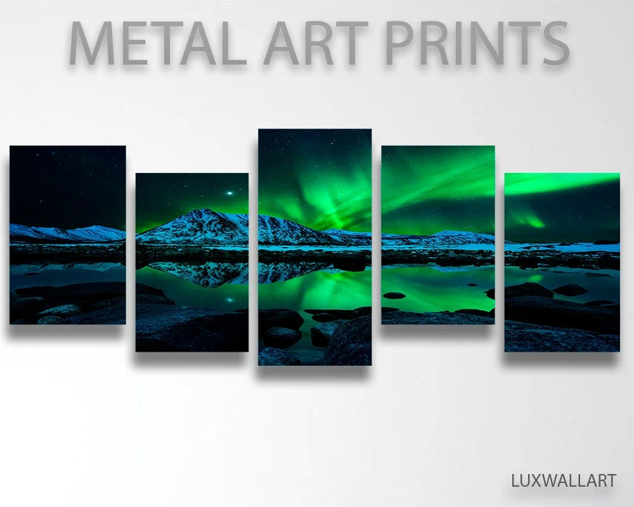 Northern Lights Metal Art