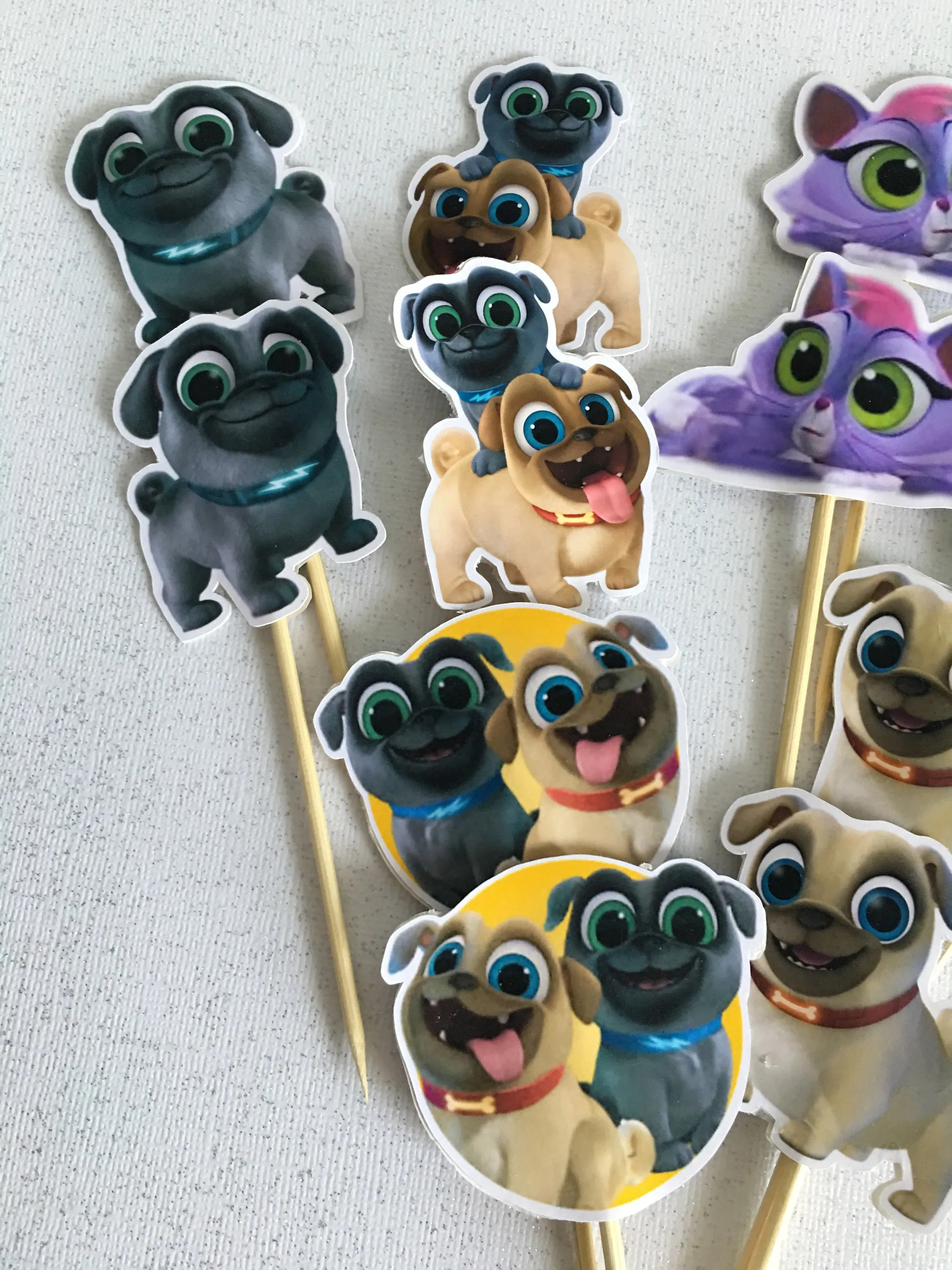 Puppy Dog Pals Cupcake Toppers Inspired
