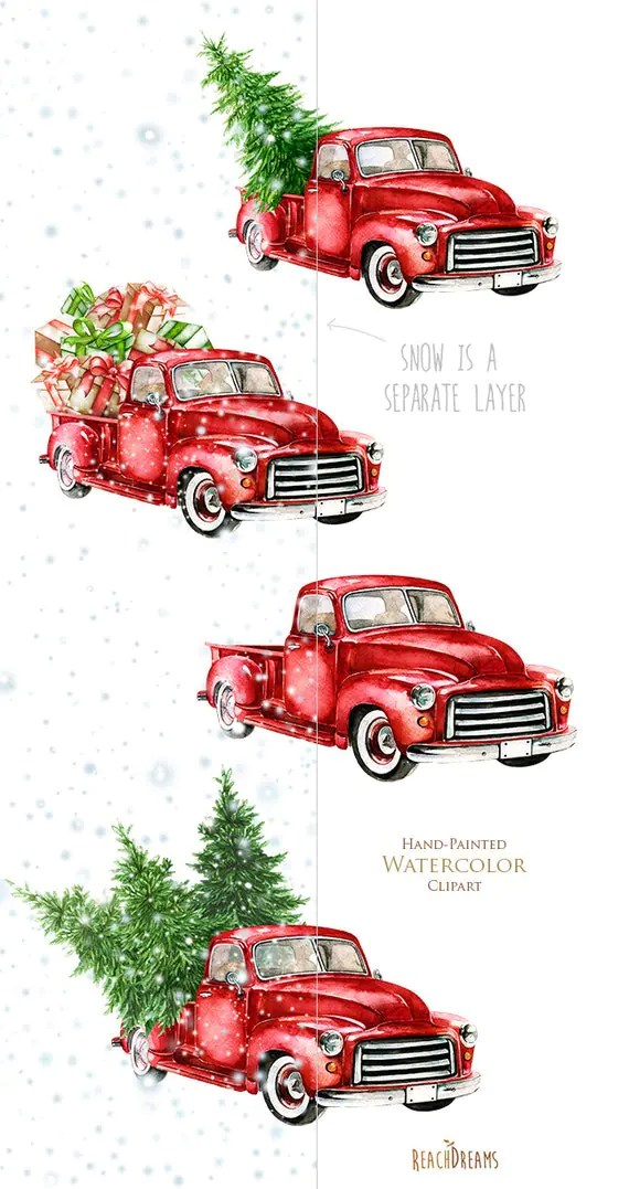 Vintage Red Truck Christmas Decor Division Of Global Affairs