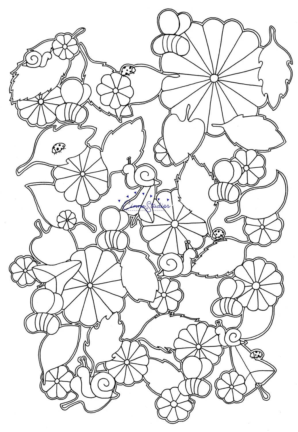 Bees Ii Coloring Page Adult Coloring Download Printable Page