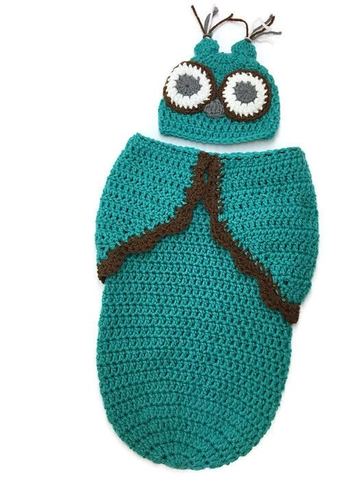 Newborn Crochet Owl Cocoo...