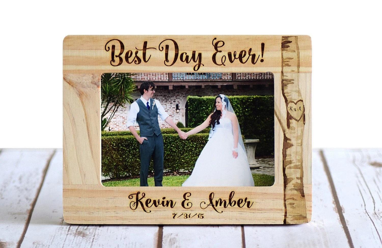 Wedding Frame Personalized Wedding Gift Wood Burned Frame