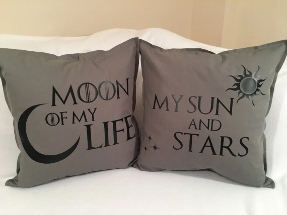 Game of Thrones Pillow Set (pillow inserts included) - Moon of My Life, Sun of My Stars