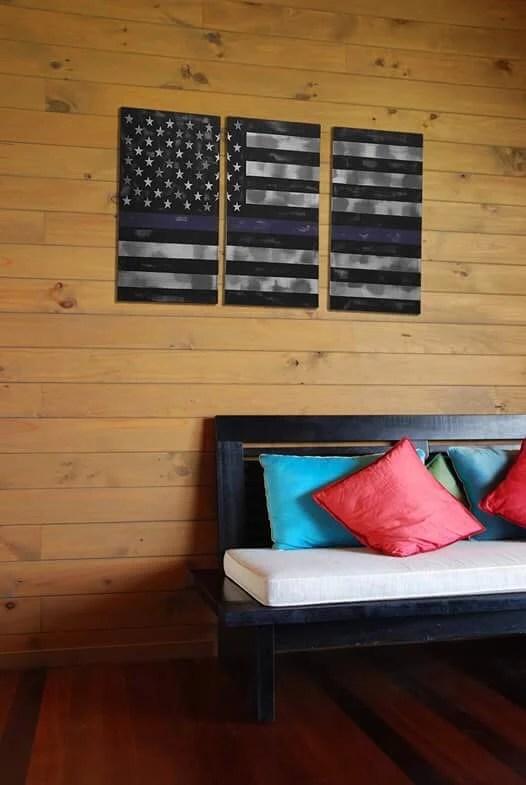 Rustic US Flag - thin blu...