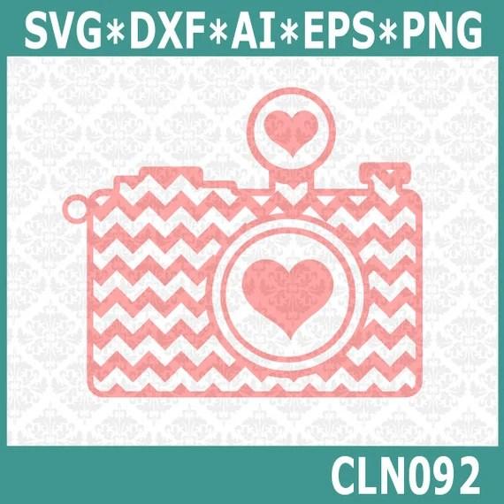 Download CLN092 Chevron Camera Heart Love Photographer Photography SVG