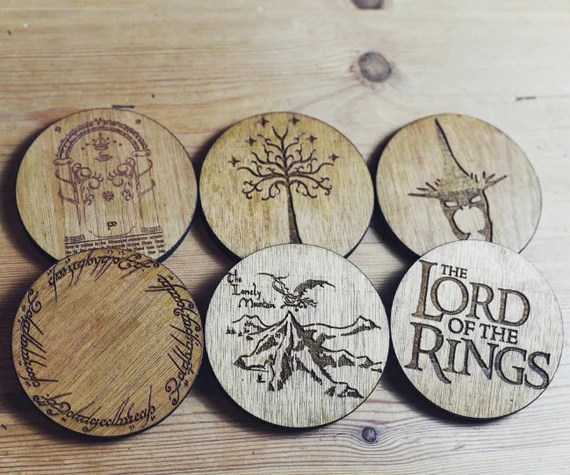 Lord Of The Rings Coasters (FREE UK DELIVERY)