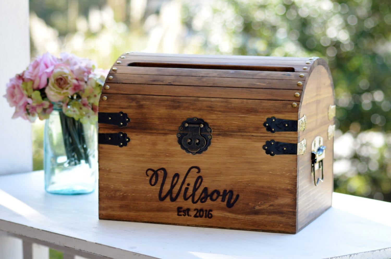 Personalized Wedding Card Box Wood Wedding Card Box With
