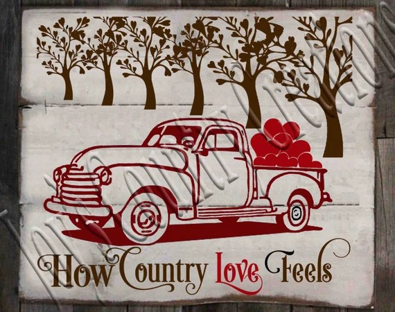 How Country Love feels SVG PNG JPEG