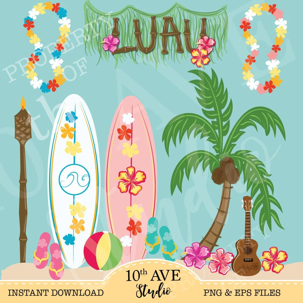 Tropical Luau Clipart Png Amp Eps Vector Files Summer Party