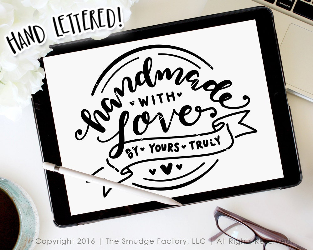 Download Handmade With Love SVG Handmade Cutting File Hand Lettered