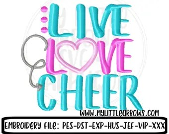 Download Live love cheer | Etsy