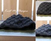 Crochet Basketweave Black...
