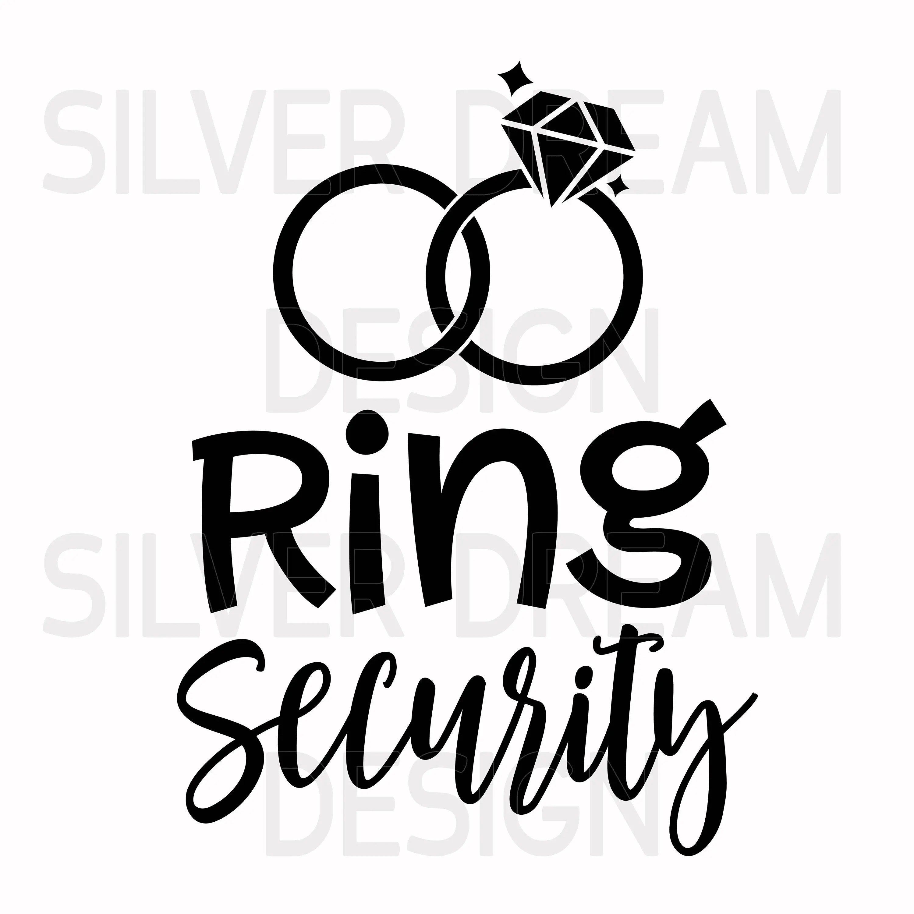 Ring Security Svg Cute Wedding Svg Wedding Party Svg