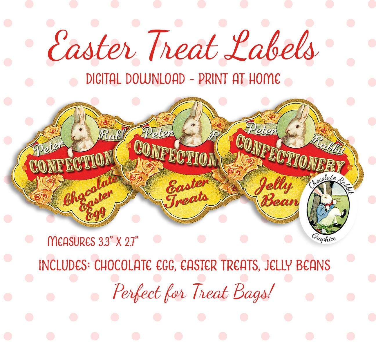 Easter Labels Treat Bags Tags Digital Download Printable