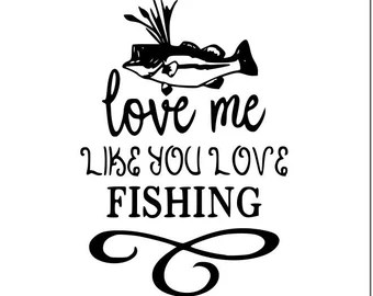 Download Fishing love svg | Etsy