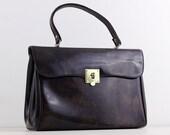 Vintage 1960s handbag, br...