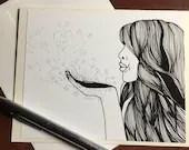 Love Spell - Original Ink...