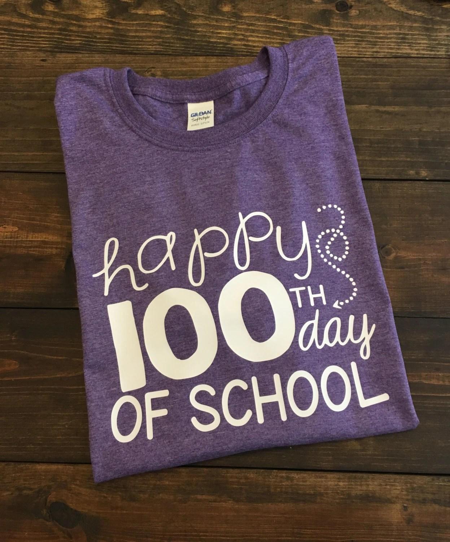 Happy 100th Day Of School Teacher T Shirt 100th Day Of School