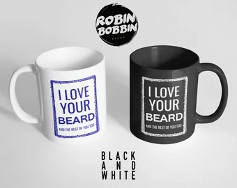 Download Mr And Mrs T-Shirts Love Her Butt Love His Beard Funny