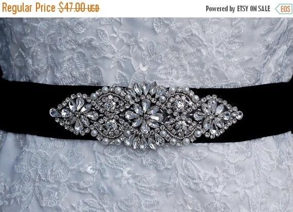 Beaded Sash Black Beaded Belt Wedding Sash Belt Bridal
