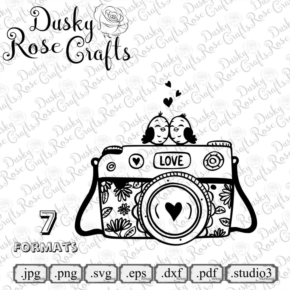 Download Camera Love Vector .SVG .EPS .DXF .png .jpg .pdf .studio3 for