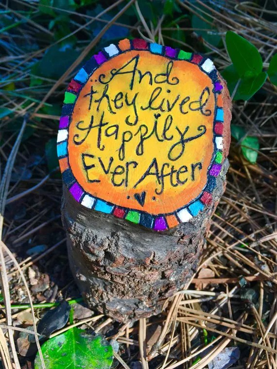 Happily Ever After stump art