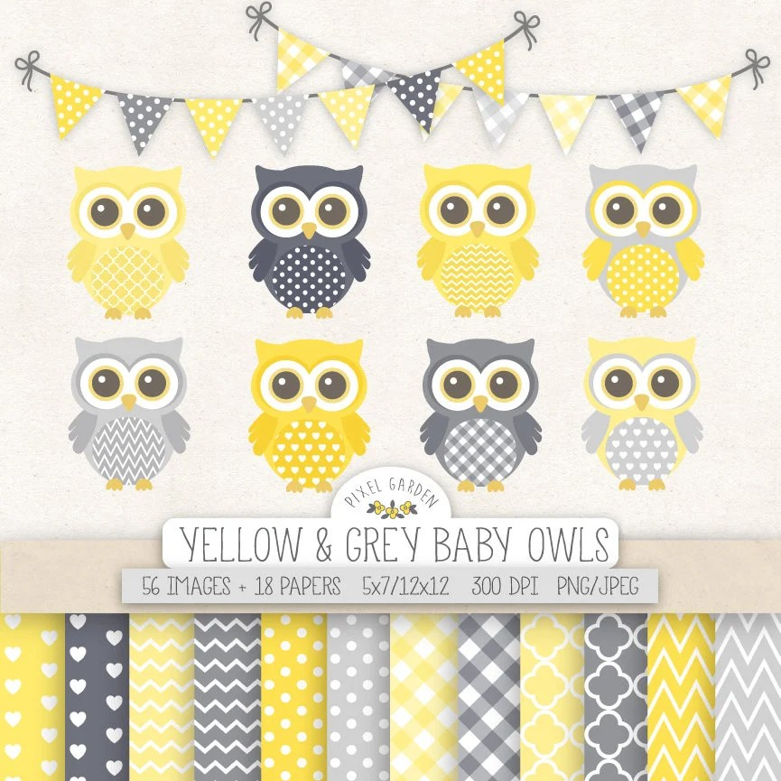 Yellow Shower And Owl Baby Grey