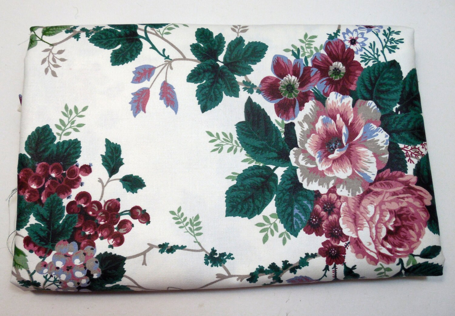 Cabbage Rose Upholstery Fabric
