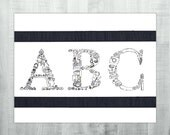 ABC - Original Ink Drawin...